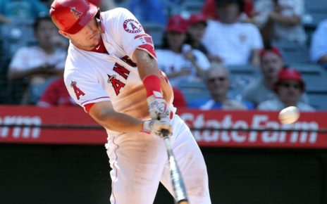 Mike Trout at bat.