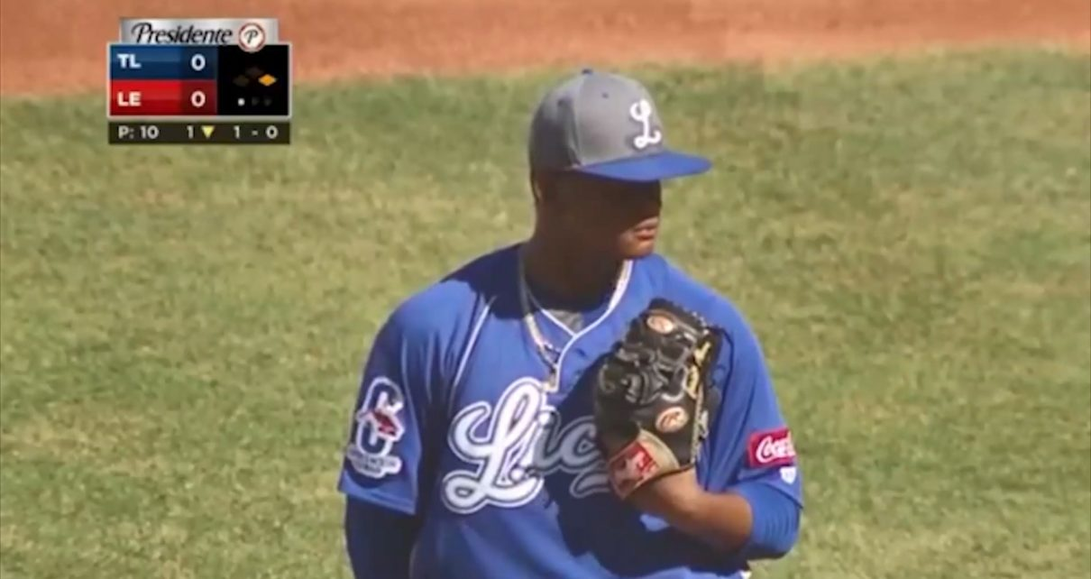 A pitcher for Tigres del Licey