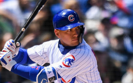 Albert Almora Jr. at-bat at Wrigley Field.