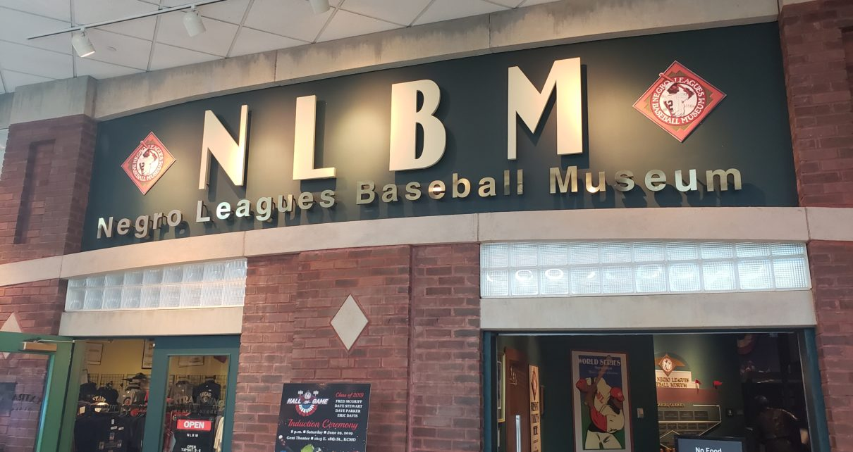 Entrance to the Negro Leagues Baseball Museum in Kansas City, Missouri.