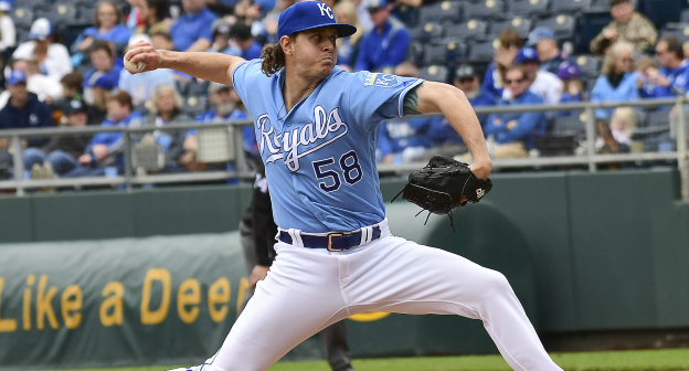 Scott Barlow on the mound for the Kansas City Royals.