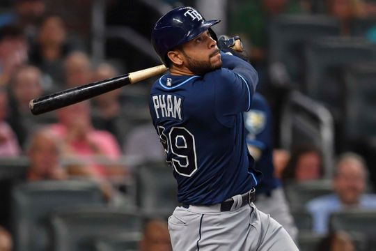 Tommy Pham at-bat for the Tampa Bay Rays.