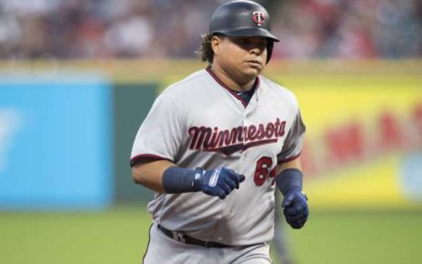 Willians Astudillo rounds the bases for the Minnesota Twins.