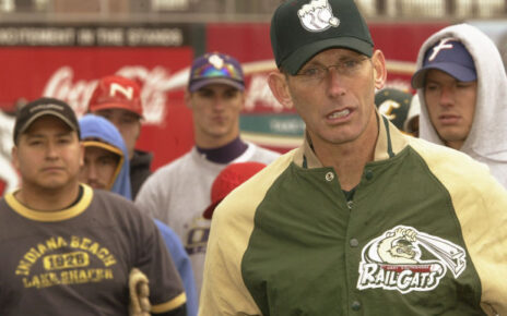 Greg Tagert, manager of the Gary SouthShore RailCats, holding a tryout.