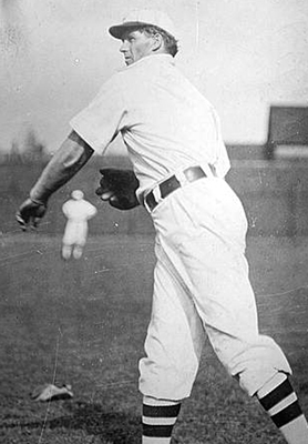 Otto Hess playing catch.