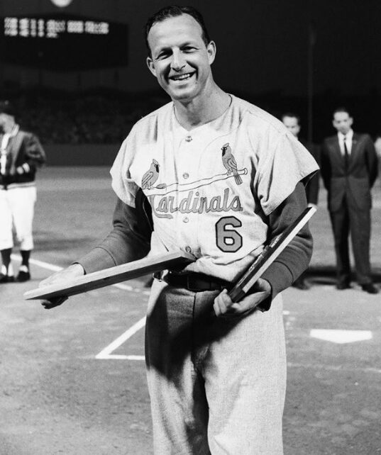 Stan Musial poses for a picture.