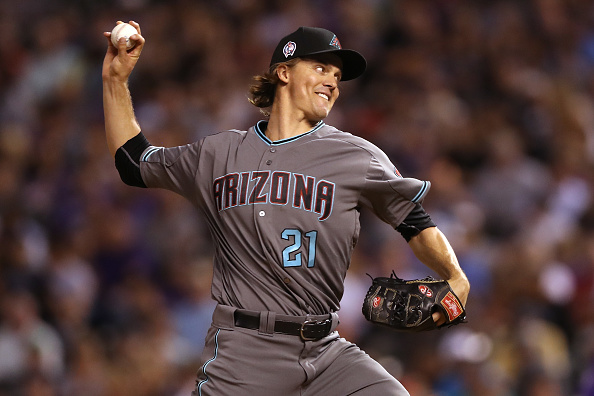 Zack Grienke on the mound for the Arizona Diamondbacks.
