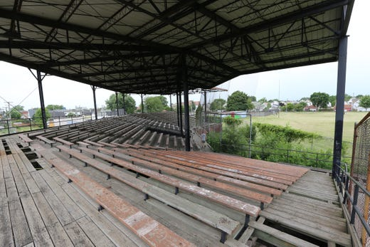 The worn down remnants of Hamtramck Stadium.
