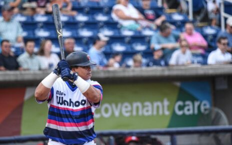Willians Astudillo at-bat for the Pensacola Blue Wahoos.