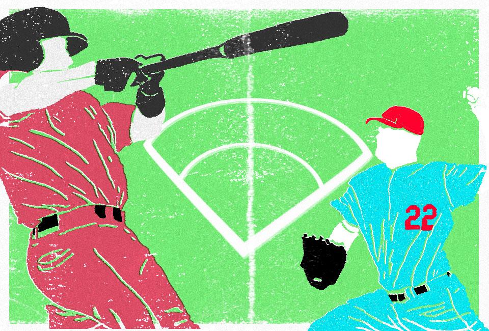 Artwork representing baseball uniforms.