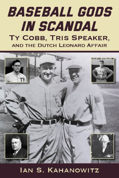 Cover of the book Baseball Gods in Scandal by Ian S. Kahanowitz.