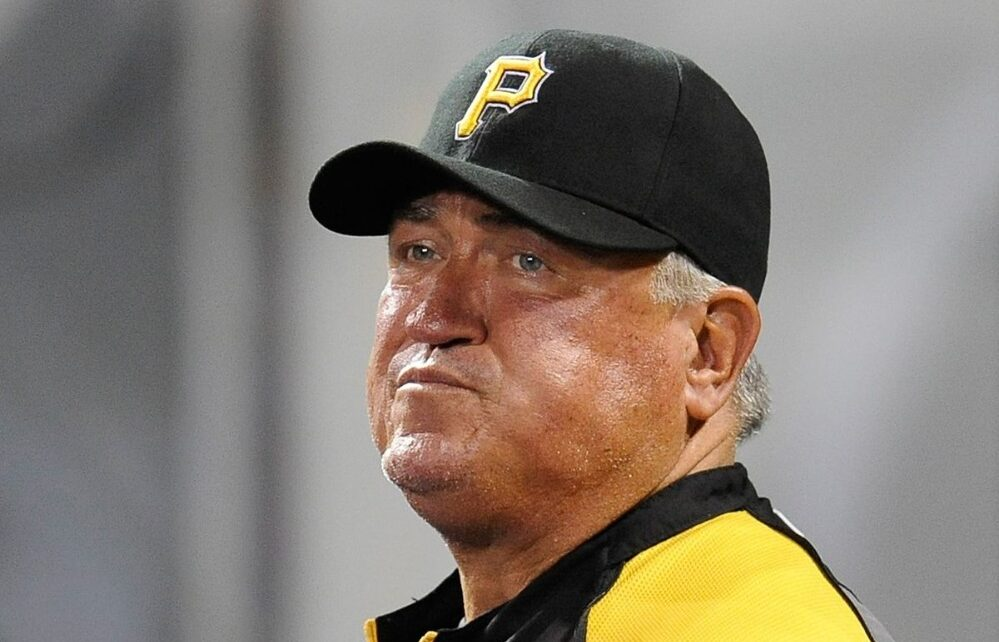 Clint Hurdle with plenty of red on his face.