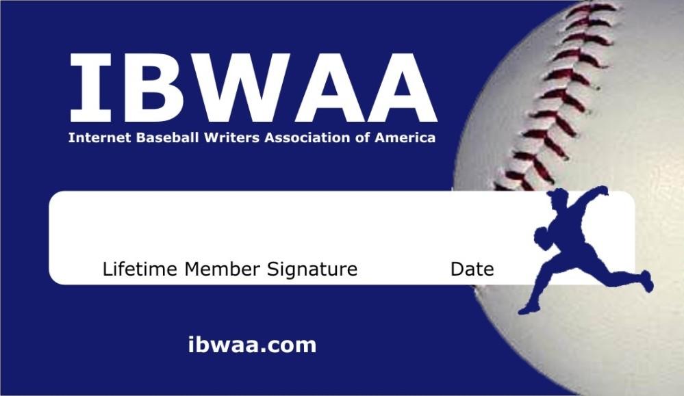 IBWAA membership card.