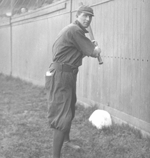 Cy Seymour posing while playing for the New York Giants