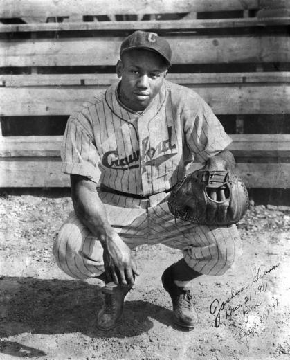 Josh Gibson in uniform for the Pittsburgh Crawfords, circa the early 1930s