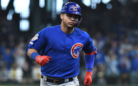 Willson Contreras in game action for the Chicago Cubs