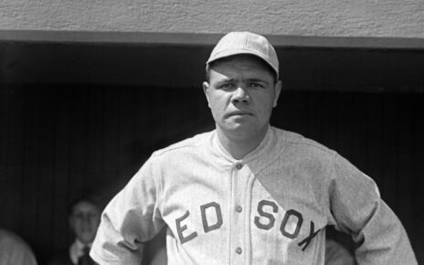 Babe Ruth with the Boston Red Sox