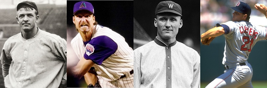Header image from an article on The Baseball Scholar about the 100 greatest pitchers ever