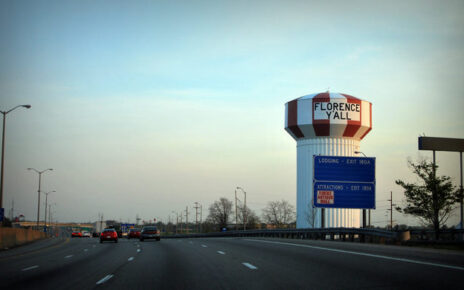 The famous Florence Y'all water tower