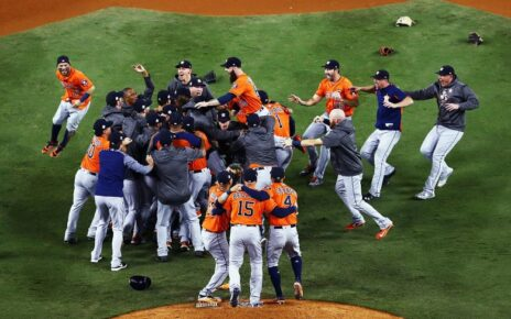 The Houston Astros celebrate the spoils of their cheating ways