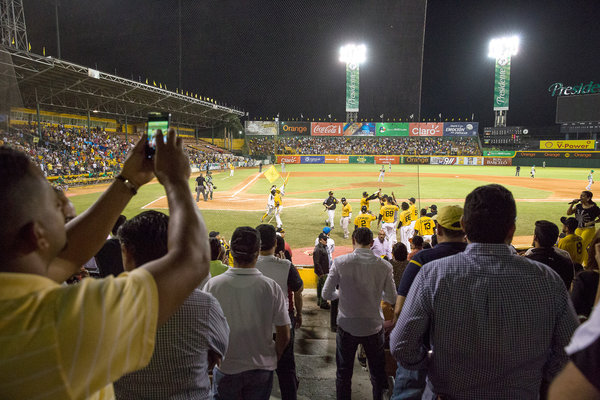 The crowd at a Liga de Béisbol Profesional de la República Dominicana game back in 2015.