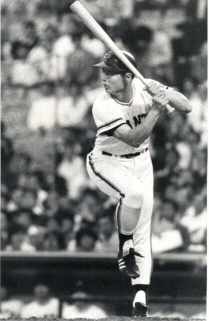 Sadaharu Oh at the plate for the Yomiuri Giants