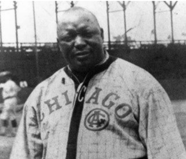 Rube Foster in his Chicago American Giants jersey.