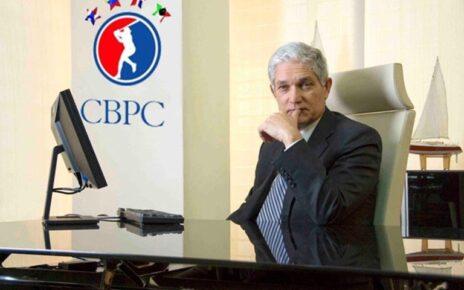 CBPC Commissioner Juan Francisco Puello at a press conference