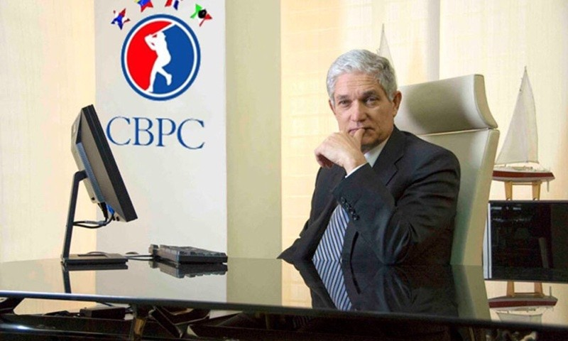 CBPC Commissioner Juan Francisco Puello at a press conference