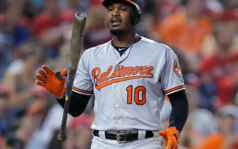 Adam Jones while with the Baltimore Orioles