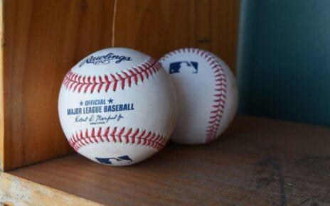 A pair of official MLB baseballs