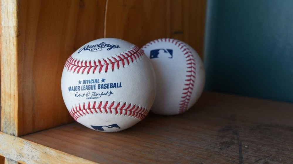 A pair of official MLB baseballs
