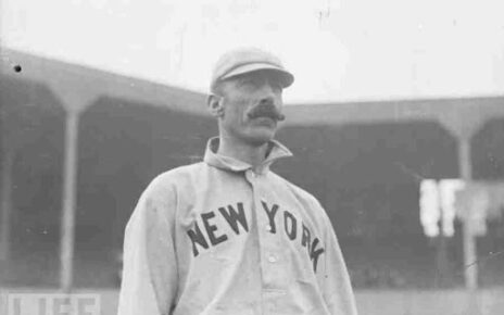 George Van Haltren with the New York Giants