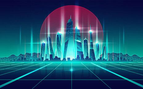 A futuristic landscape