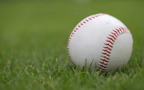 A lone baseball