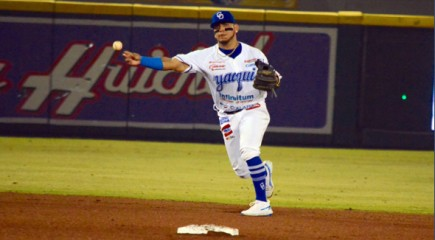 Isaac Paredes with the Yaquis
