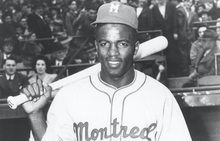 Jackie Robinson with the Montreal Royals