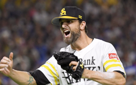 Dennis Sarfate during better times with the Fukuoka SoftBank Hawks