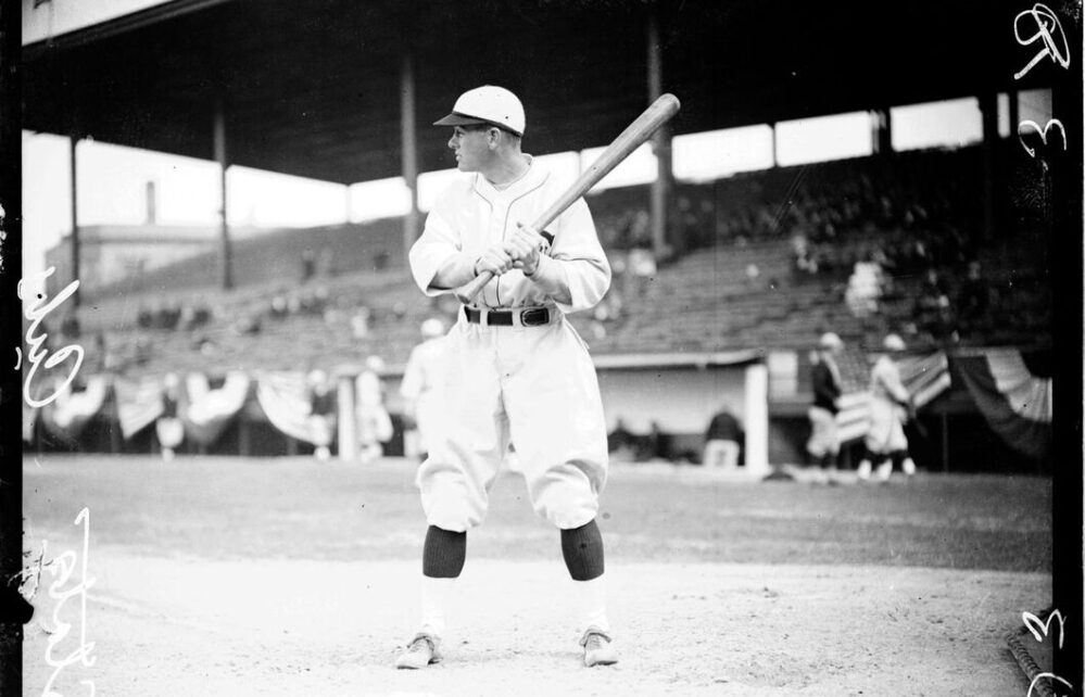 Jigger Statz at-bat with the Chicago Cubs