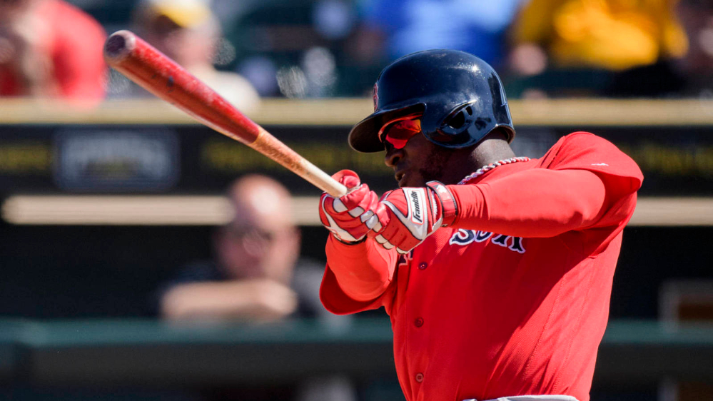 Rusney Castillo while with the Boston Red Sox
