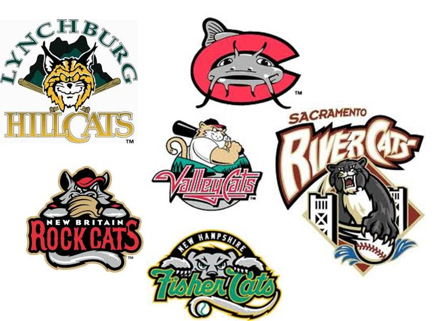 A collection of random baseball team nicknames and logos
