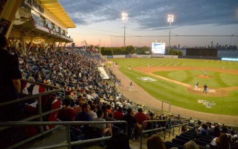 A game at Richmond County Bank Ballpark
