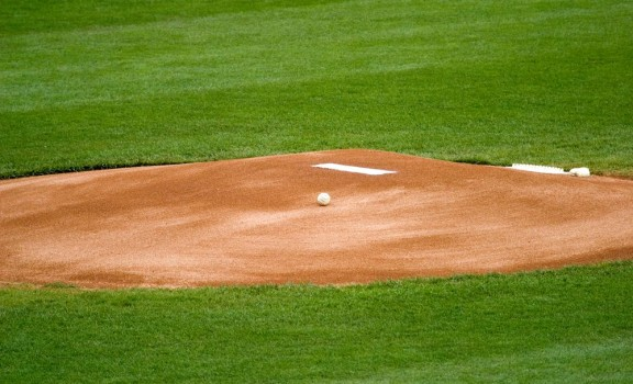 A generic photo of a baseball mound