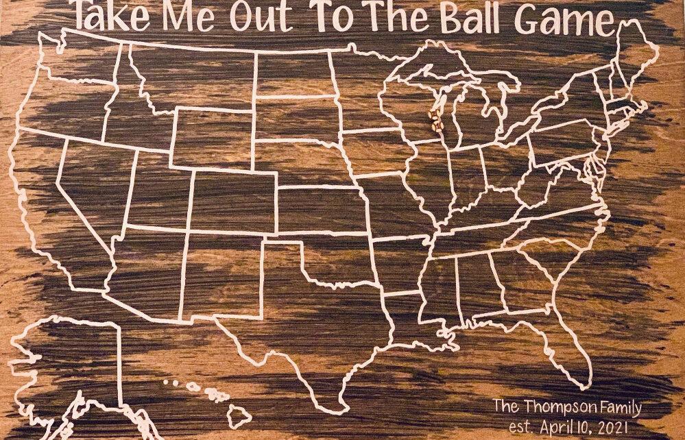 Thompson Family Baseball Map