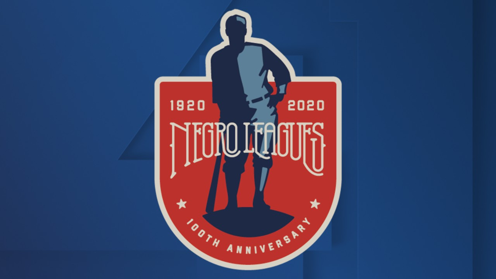 The logo for the 100th Anniversary of the Negro Leagues