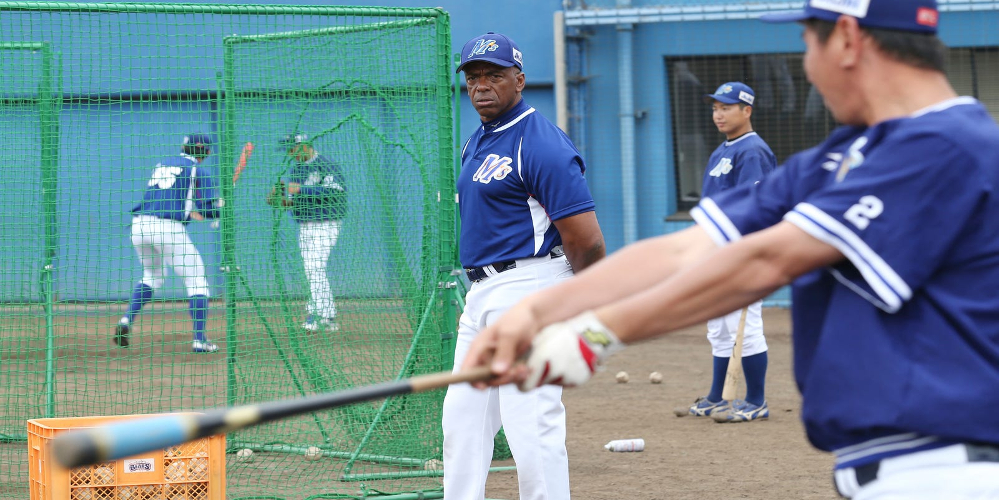 Julio Franco while player/manager of the Ishikawa Million Stars