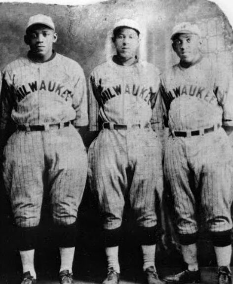 A few Milwaukee Bears players pose for a photo at some point in 1923.
